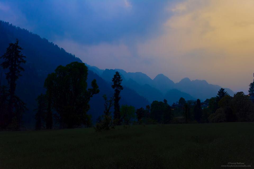 A dark cold dusk at Grahan